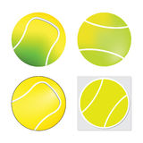 Tennis ball set  - Vector isolated on white background Royalty Free Stock Images