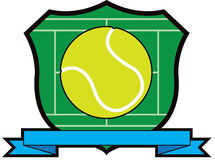 Tennis Ball Shield Stock Photos