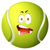 Tennis ball with silly face Royalty Free Stock Photography