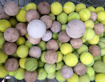 Tennis ball with softball Stock Image