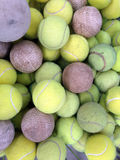 Tennis ball with softball Royalty Free Stock Image