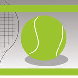 Tennis. Ball on special gray background Royalty Free Stock Photo