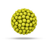 Tennis ball sphere Stock Image