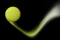 Tennis Ball Taking a Bounce Stock Image