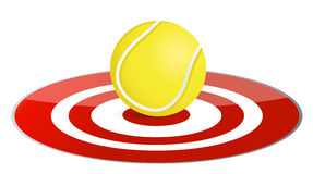 Tennis ball target concept Royalty Free Stock Photo
