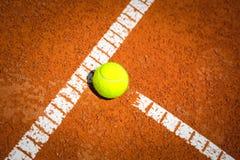Tennis Ball on a tennis court Stock Image