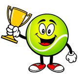 Tennis Ball with Trophy. A vector illustration of a Tennis Ball with Trophy Stock Photos