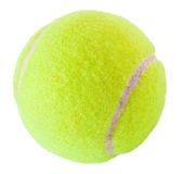 Tennis ball on white Royalty Free Stock Photography
