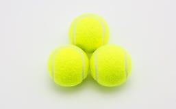 Tennis ball on white background Royalty Free Stock Photo