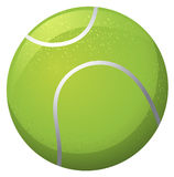 Tennis ball on white background Stock Photos