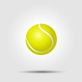 Tennis ball on white background with shadow Royalty Free Stock Photos