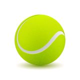 Tennis ball. On white background. Vector illustration Royalty Free Stock Image