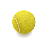 Tennis ball on white Stock Photo