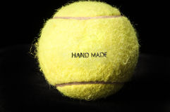 Tennis ball with words hand made Stock Image