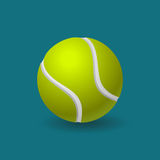 Tennis ball. Yellow tennis ball with 3d effect isolated vector image Stock Images