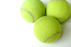 Tennis Balls. Three tennis balls on white background Stock Photo