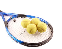 Tennis and balls Royalty Free Stock Photo