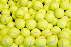 Tennis balls. Background of many tennis balls stock images