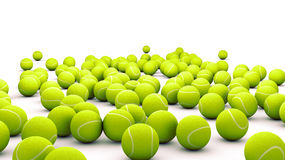 Tennis balls. Many tennis balls isolated on white Stock Photo