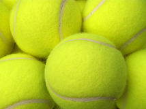 Tennis balls. Close-up of tennis balls royalty free stock photography