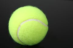 Tennis balls. Tennis ball isolated over black background royalty free stock images