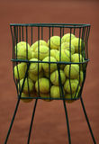 TENNIS BALLS. In the basket Stock Images