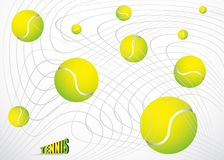 Tennis balls background Stock Images