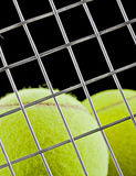 Tennis balls closeup on black background Royalty Free Stock Images