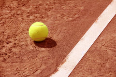 Tennis Balls on Court Near line Stock Images