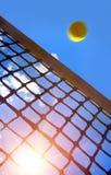 Tennis balls on Court stock photography