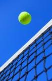 Tennis balls on Court stock photos