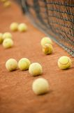 Tennis balls on a field Royalty Free Stock Photos