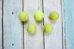 Tennis balls form olympic rings Royalty Free Stock Image