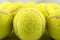 Tennis Balls. Approaching tennis balls set. You can see the texture of the fibers and fluoresce royalty free illustration