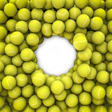 Tennis balls frame Stock Photo