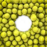 Tennis balls frame Stock Photo
