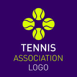 Tennis balls logo design for clubs. Or sport events poster. Isolated vector image Stock Images