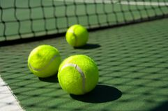Free Tennis Balls On Court Stock Photography - 2932022