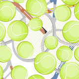 Tennis balls pattern Stock Image
