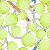 Tennis balls pattern Stock Image