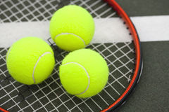 Tennis Balls and Racket Royalty Free Stock Image
