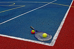 Tennis Balls & Racket-1 royalty free stock photos