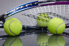 Tennis Balls with racket Royalty Free Stock Image
