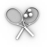 Tennis balls and rackets Royalty Free Stock Image