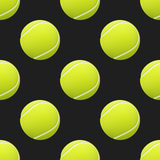 Tennis balls seamless pattern background. Stock Image