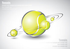 Tennis balls shaped like solar system Stock Images
