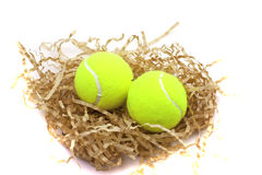Tennis balls in shaving Royalty Free Stock Photos