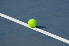 Tennis Balls shot on a outdoor tennis court Stock Photography