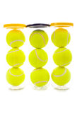Tennis Balls on White Stock Photos