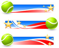 Tennis Balls With Patriotic U.S. Banner Royalty Free Stock Photography